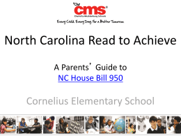 A Parent`s Guide to NC House Bill 950