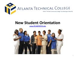 New Student Orientation - Atlanta Technical College