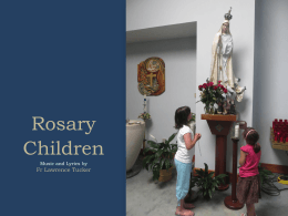 Song for Praying the Rosary