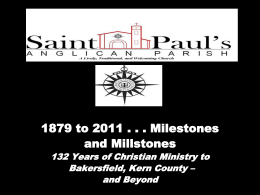 ST. PAUL*S ANGLICAN PARISH 1879 TO 2011 * 132