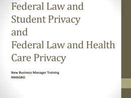 Federal Law and Student Privacy.ppt
