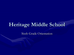 Teaming - Heritage Middle School