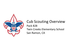 Cub Scouts Overview Pack 828