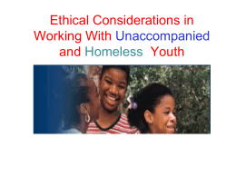 Ethical Considerations in Working With Unaccompanied and