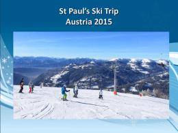 Ski trip information evening presentation 2015 (II)