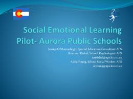 Social Emotional Learning Pilot