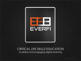 Everfi Presentation – Color - Texas Council on Economic Education