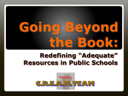 Going Beyond the Book: - UCLA/IDEA | Institute for Democracy