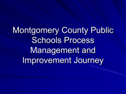 Process Management in Montgomery County Public Schools