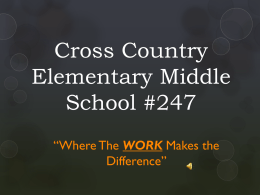 WORK - Baltimore City Public Schools