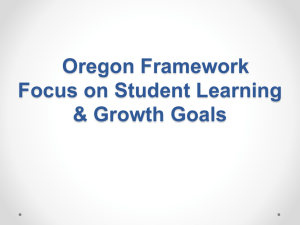 Student Learning and Growth Goals