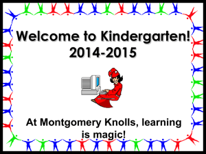 Welcome to Kindergarten! 2007-2008