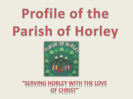 Profile of the Parish of Horley