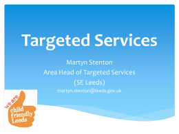 Targeted Services - Leeds City Council