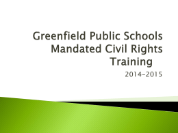 Civil Rights Training, 2014-15