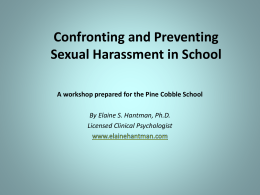 Confronting Sexual Harassment in Schools