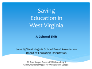 Bill Rosenberger – Saving Education in West Virginia