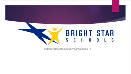 Independent Reading 2014-15