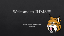 Welcome to JHMS!!!!