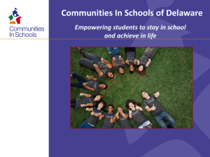 CISDE Overview - Communities In Schools