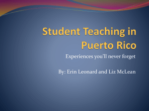 Student Teaching in Puerto Rico