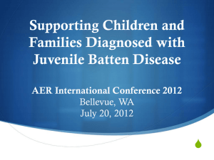 Batten Disease - Association for Education and Rehabilitation of the