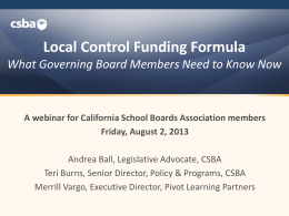 presentation slides - California School Boards Association