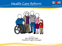 Affordable Care Act IEHP Presentation 11 2013
