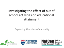 Investigating the effect of out of school activities on educational