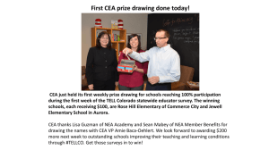 to see which schools won CEA Prize Drawings this
