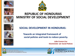 SOCIAL DEVELOPMENT IN HONDURAS