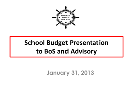 Joint Meeting Budget Presentation January 31