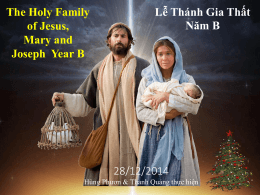The Holy Family of Jesus, Mary and Joseph Year B