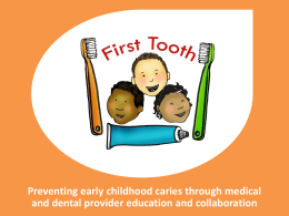 First Tooth - Oregon Public Health Association