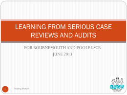 learning from serious case reviews and audits