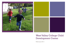 West Valley College Child Development Center
