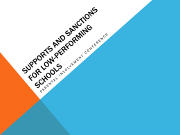 Supports and Sanctions for Low