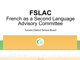Back to Balance 2013-14 - Toronto District School Board