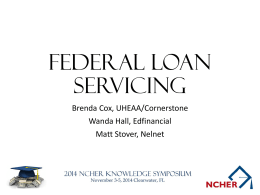 Federal Loan Servicing Panel