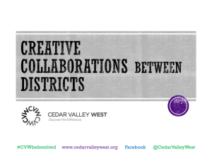 Creative Collaborations Among Districts