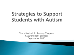 Strategies to Support Students with Autism MCS
