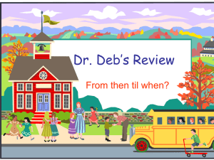 Dr. Deb*s Review