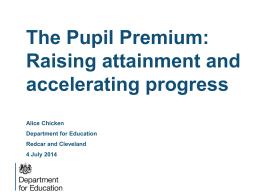 DfE Pupil Premium Presentation 4th July