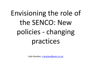 New policies - changing practices