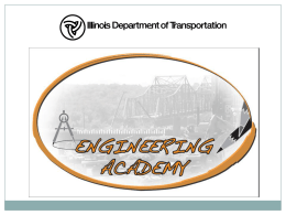 IDOT Engineering Academy 2014 (ea)