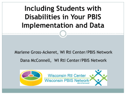 PowerPoint - Wisconsin PBIS Network