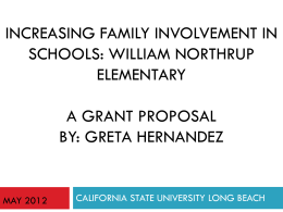 a grant proposal by - California State University, Long Beach