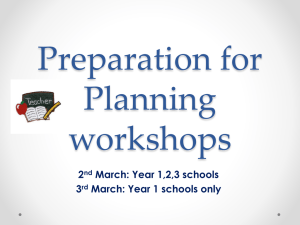 Preparation for Planning workshops
