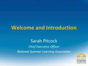 National Summer Learning Association