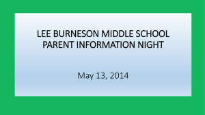 current 6th grade parent information night